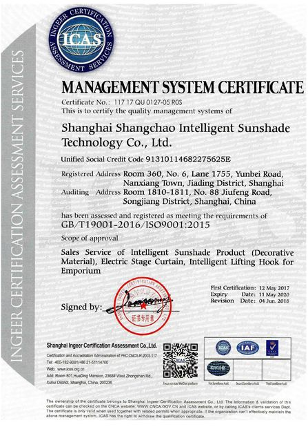 Shanghai SUNC Intelligence Shade Technology Co., Ltd.